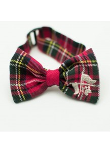 "Dog Wool Tartan Plaid Bow Tie ""Crea""     =one of a kind style="