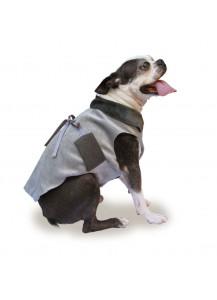 "Dog Velvet Jacket with ties ""Platinum"""