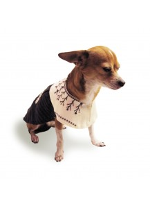 "Dog Embellishment Dress ""Winter Garden""     =one of a kind style="