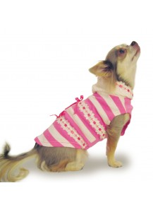 "Knit Dog Hoody ""Lacy Pink"""
