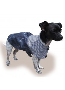 "Cotton Dog Coat ""Night Flight""   *One of a kind style"